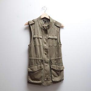 British Khaki Olive Green Military-looking Vest XS